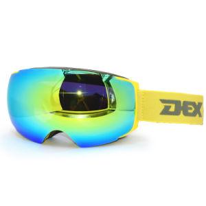 Hubo 최신 판매 새로운 스키 고글 Anti-Fog 자석 렌즈