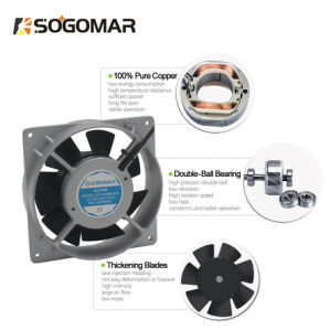 (SF12038) Silver 7blades de rodamiento de bolas Ventilador El ventilador ventilador de ventilación de escape