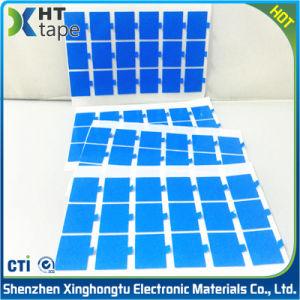 0,8 mm de espuma de polietileno de doble cara cintas con línea azul