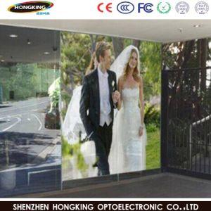 P7.8mm Shopping Mall mur de fenêtre en verre transparent de la publicité affichage LED