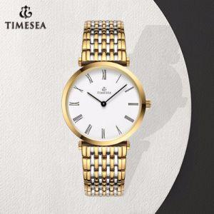 Quartz chronographe plaqué or cristaux ronde classique Mesdames Montres 71301