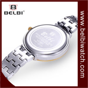 Relojes cristalinos exquisitos del regalo del cuarzo de las señoras de Belbi