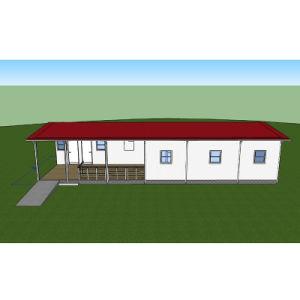 Villa el uso y la estructura de acero + Material del panel sándwich de cemento de EPS casa prefabricada