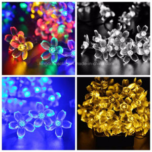 Blumen-im Freiengarten-Sicherheits-Solarzeichenkette-Lichter für Festival-Dekoration-Lampe