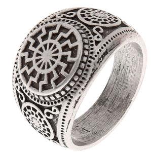 Norse de Grote Grootte van de Ring van de Mensen van Norde Vigisr van de Ring van de Rune van Vikingen Sonnenrad