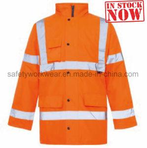 La seguridad exterior reflectante Ropa de trabajo de los hombres chaqueta de invierno
