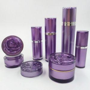 Acrylique cosmétique de forme ronde l'emballage fixe avec Rose Cap