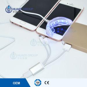 O OEM 16 lâmpadas LED de branqueamento dos dentes Smart Phone Luz Carregamento USB