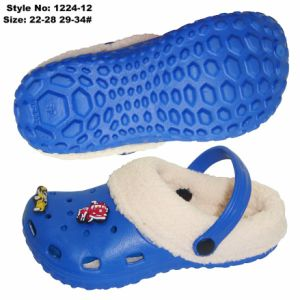 L'hiver Enfants Enfants Holey sandales Charms EVA de boucher avec de la fourrure
