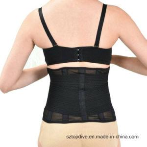 Elástico de alta calidad de vuelta en la cintura de adelgazamiento de la correa de soporte lumbar