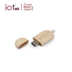 Древесина флэш-накопитель USB с логотипом печати