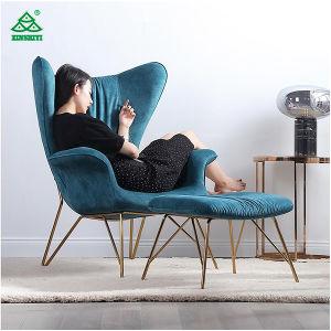 De madera Muebles de Salón chaise lounge sillón con otomana