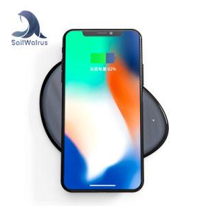 iPhoneのための新しい来る最もよい価格によってカスタマイズされる使用できるチーの携帯電話の無線充電器の円形のパッド