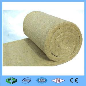 Fibra mineral lã de rocha Manta de Isolamento da parede com malha de arame
