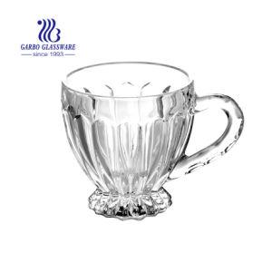7oz tasse de thé et café en verre avec aspect gaufré XC096006(GO)