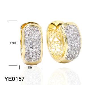 2018 spätester Entwurfs-große Goldband-Ohrringe