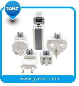 Multifuncional 3 en 1 banco de potencia de carga inalámbrica Qi con adaptador de cargador de pared