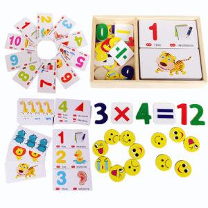 Bébé cassette en bois d'enseignement de l'arithmétique Numéro de carte de reconnaissance numérique cadeaux Jigsaw Toy