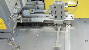 Macchina per cucire industriale di slittamento della mano del contrassegno del Velcro del contrassegno automatico di marchio