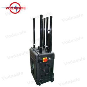 Draagbare 6CH Stoorzender met de Stoorzender CDMA/Dcs/PCS/3G/4glte/WiFi2.4G/4G Wimax/Gpsl1, Straal 5001000m van het Geval van de Pelikaan van de Dekking