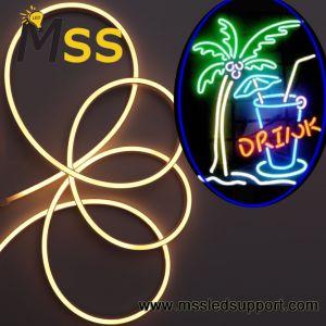 De alta calidad Venta caliente CC12V SMD5050 RGB LED Neon Flex