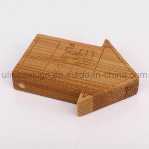 木ハウジングUSBが付いている家の形USBのフラッシュ駆動機構