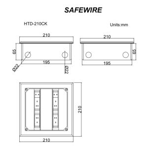 Side Mount Floor Receptacle/Power Socket