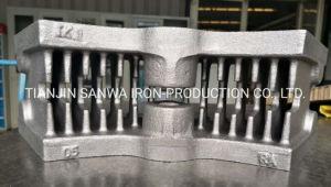 Segment de frein de coulage en sable de chemin de fer de l'ISO Fonderie de fonte ductile/Gris Moulage de fer de fonderie