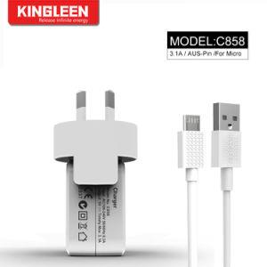 Android телефонов зарядное устройство Micro USB-кабель 3 м с разъемами USB домашний настенное зарядное устройство зарядки 3.1A комплект блока цилиндров