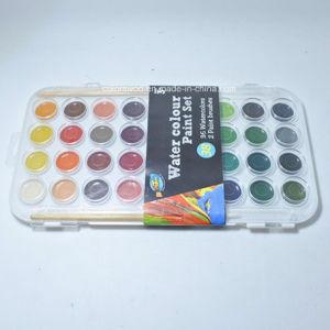 芸術の利点の水彩画のペンキは-38 Cakes& 2のブラシをセットした