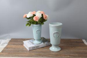Фарфоровые вазы, керамическая ваза, вазы, синего оттенка уха ваза цветов