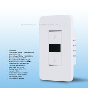 Intensidade da Luz de toque inteligente WiFi interruptor de parede