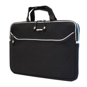 Waschbarer Neopren-Laptop-Kasten mit Griff und vorderer Reißverschluss-Tasche