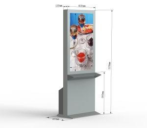 55-дюймовый водонепроницаемый и открытый напольные ЖК-дисплей со светодиодной подсветкой цифровую рекламу