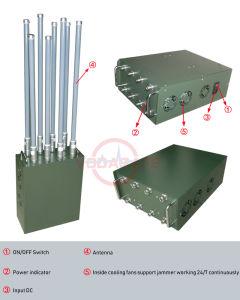 De multi Stoorzender van de Hoge Macht van de Stoorzender van de Bom van het Pak van de Mens van Banden Militaire voor Convoy/GPS/Glonass/Galileo L2 L3 L4 L5; De Afstandsbediening 433MHz/315MHz/868MHz van de auto