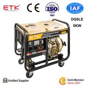 gruppo elettrogeno diesel raffreddato aria potente dei motori 5kw