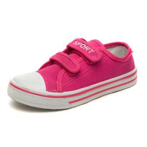 Crianças sapatos de lona de injecção