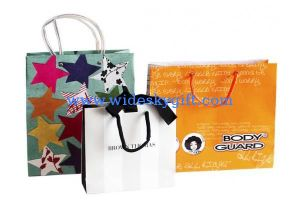 Rope di plastica Handle Waterproof Drawstring Bags con Square Bottom e Side Gussets