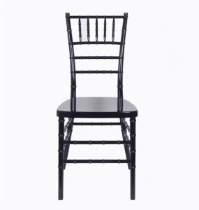 Weddings를 위한 그려진 Reinforced Black Resin Chiavari Chair