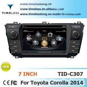 2 DIN автомобильной навигации GPS для Toyota Corolla 2014 со встроенным GPS, A8 набора микросхем и RDS, Bt, 3G/WiFi, 20 Dics Momery (TID-C307)