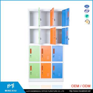 Lage Prijs 12 van de Leverancier van China de Kast van de Kleren van het Metaal van de Deur/Kleurrijke Kast