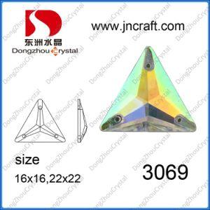 het Kristal Ab van 16*16mm naait op de Stenen van het Glas voor de Toebehoren van het Kledingstuk