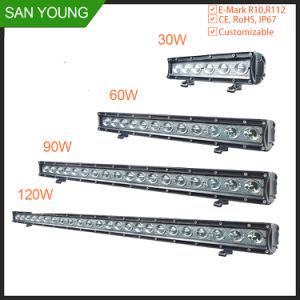 Barra de LED luminoso automático 10 polegada 30W para condução em Trilhas