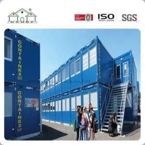 青いカラー労働者の寮またはオフィスのための携帯用プレハブの容器の家