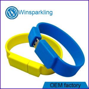 Disque promotionnel de flash USB de bracelet avec le logo fait sur commande