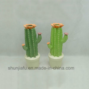 Ceramische Cactus Gevormde Ornamenten in Middel