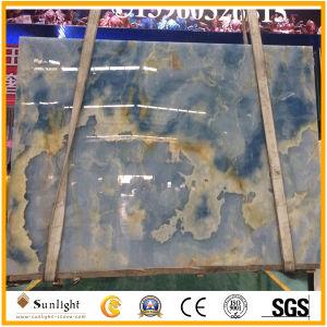 Lichtdurchlässiger natürlicher blauer Onyx für Wand-Fußboden