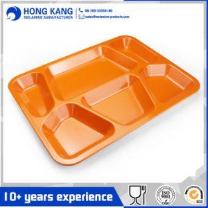 Ustensiles de cuisine de forme carrée en plastique pour le dîner les plaques de mélamine cantine