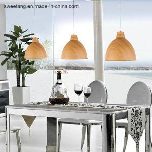 木製カラーの現代簡単で軽いシャンデリアのペンダント灯