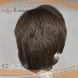 安く短い人間の毛髪の混合されたファイバーのかつら(PPG-l-01594)